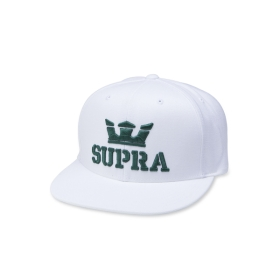 Supra Accessories ABOVE II SNAP BACK White/Evergreen Hats | CA-83762