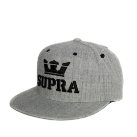Supra Accessories ABOVE SNAP Grey Heather Hats | CA-87862