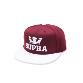 Supra Accessories ABOVE SNAP Maroon/White Hats | CA-24498