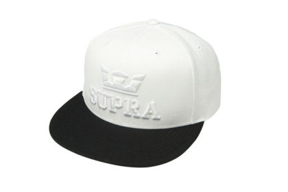 Supra Accessories ABOVE SNAP White/Black Hats | CA-46353