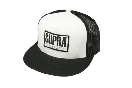 Supra Accessories TRI-BLOCK TRUCKER White/Black Hats | CA-33316