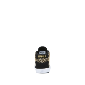 Supra Kids TODDLER VAIDER Black/Gold/white High Top Shoes | CA-52344