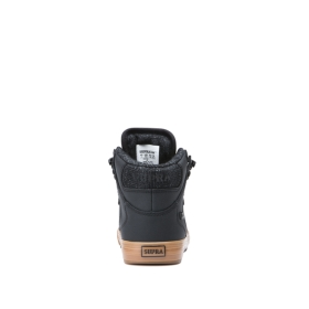 Supra Kids VAIDER COLD WEATHER Black/Brown High Top Shoes | CA-31674