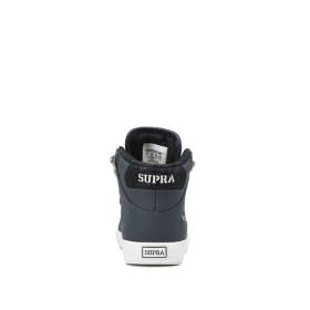 Supra Kids VAIDER COLD WEATHER Gray Blue/White High Top Shoes | CA-50071