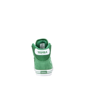 Supra Kids VAIDER Green/White/white High Top Shoes | CA-79043