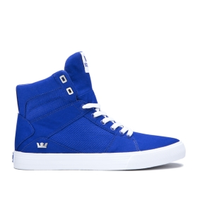 Supra Mens ALUMINUM Royal/white High Top Shoes | CA-50190