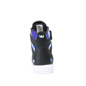 Supra Mens BREAKER Black/ Chameleon High Top Shoes | CA-83893