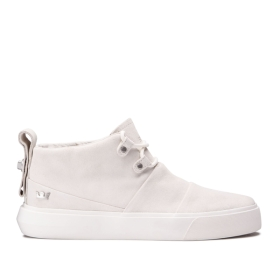 Supra Mens CHARLES Off White/off White High Top Shoes | CA-73631