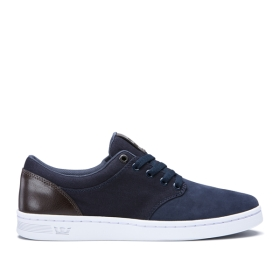 Supra Mens CHINO COURT Blue/Gray Low Top Shoes | CA-63090