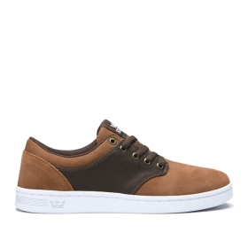 Supra Mens CHINO COURT Brown/Demitasse/white Low Top Shoes | CA-19323