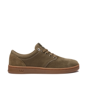 Supra Mens CHINO COURT Olive/gum Low Top Shoes | CA-15270