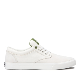 Supra Mens CHINO Creamy/white Low Top Shoes | CA-91426