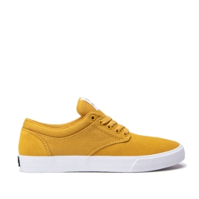 Supra Mens CHINO Golden/White Skate Shoes | CA-88873