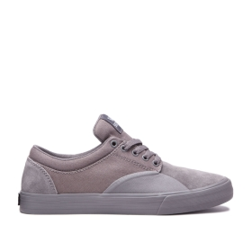 Supra Mens CHINO Grey/grey Low Top Shoes | CA-84728