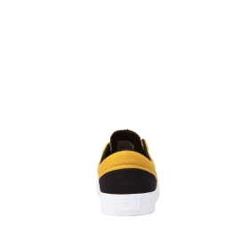 Supra Mens COBALT Black/Golden/white Low Top Shoes | CA-60047