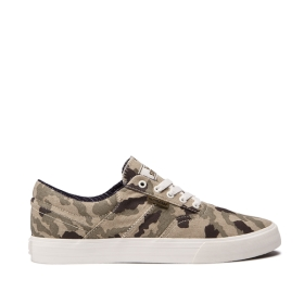 Supra Mens COBALT Camo/bone Low Top Shoes | CA-53479