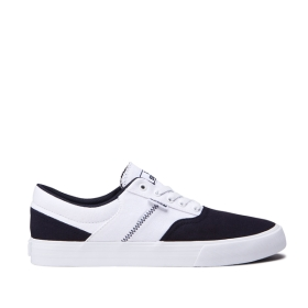 Supra Mens COBALT Navy/White/white Low Top Shoes | CA-90235