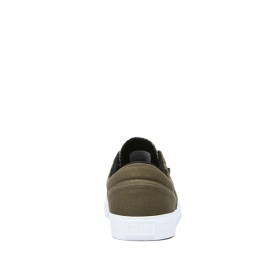 Supra Mens COBALT Olive/Black/white Low Top Shoes | CA-51830