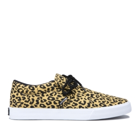Supra Mens CUBA Animal/black Low Top Shoes | CA-63746