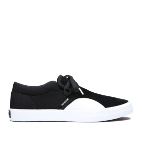 Supra Mens CUBA Black/white Skate Shoes | CA-41222