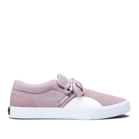 Supra Mens CUBA Mauve/white Skate Shoes | CA-28619
