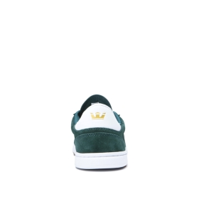 Supra Mens ELEVATE Evergreen/white Low Top Shoes | CA-25752