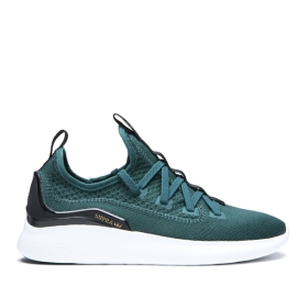 Supra Mens FACTOR Evergreen/white Low Top Shoes | CA-61227