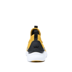 Supra Mens FACTOR Golden/Black/white Low Top Shoes | CA-31735