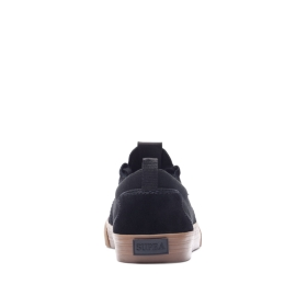 Supra Mens FLOW Black/Gum Skate Shoes | CA-52824