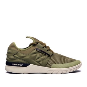 Supra Mens FLOW RUN EVO 2 Olive/bone Trainers | CA-36427