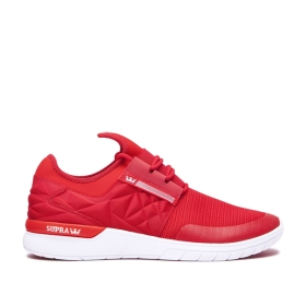 Supra Mens FLOW RUN EVO Formula One/Risk Red/white Trainers | CA-34107