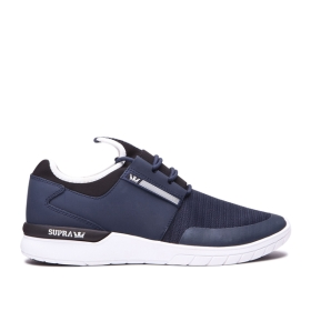 Supra Mens FLOW RUN Navy/white Trainers | CA-65785