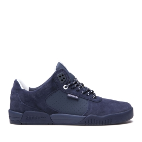 Supra Mens FULTON Navy/navy Low Top Shoes | CA-42955