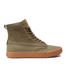 Supra Mens GRAHAM CW Olive/Lt Gum High Top Shoes | CA-79328