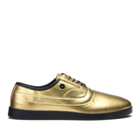 Supra Mens GRECO Gold/Black Skate Shoes | CA-84867