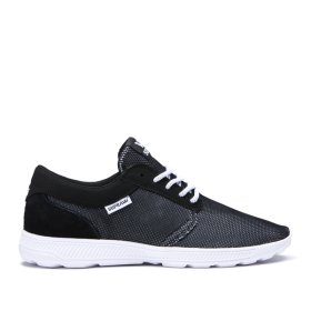 Supra Mens HAMMER RUN Black Emboss/white Low Top Shoes | CA-34837