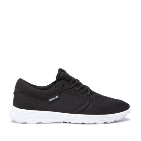 Supra Mens HAMMER RUN Black/White/white Low Top Shoes | CA-20288