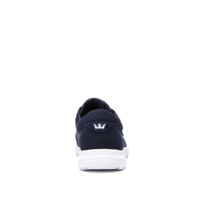 Supra Mens HAMMER RUN Navy/White/white Low Top Shoes | CA-31382