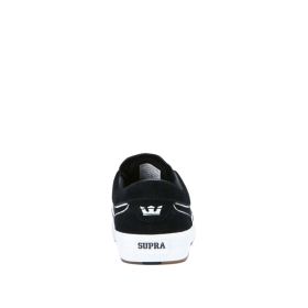 Supra Mens HAMMER VTG Black/white Low Top Shoes | CA-43343