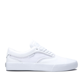 Supra Mens HAMMER VTG White/white Low Top Shoes | CA-71719