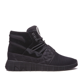 Supra Mens JAGATI Black/black High Top Shoes | CA-13711
