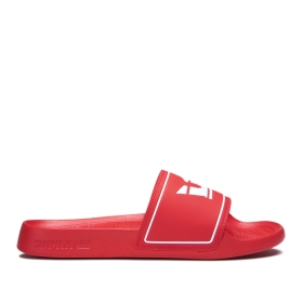 Supra Mens LOCKUP Risk Red Low Top Shoes | CA-83742