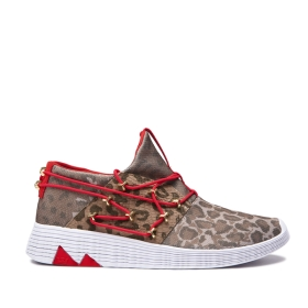 Supra Mens MALLI Animal/white Low Top Shoes | CA-22932