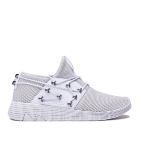 Supra Mens MALLI Cool Grey/white Low Top Shoes | CA-27487