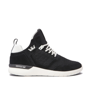 Supra Mens METHOD Black/off White High Top Shoes | CA-17221