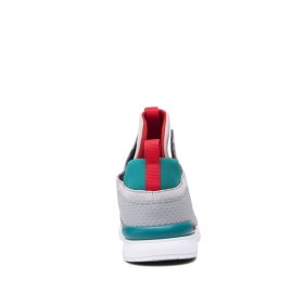 Supra Mens METHOD Lt. Grey/Teal/white High Top Shoes | CA-75685