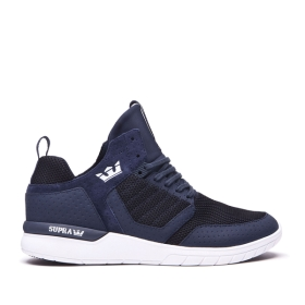 Supra Mens METHOD Navy/Black/white High Top Shoes | CA-98428