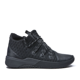Supra Mens REASON Black/Black Trainers | CA-33804