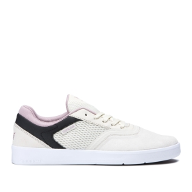 Supra Mens SAINT Bone/Black/white Skate Shoes | CA-87917