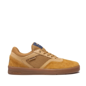 Supra Mens SAINT Tan/Gum Low Top Shoes | CA-64406